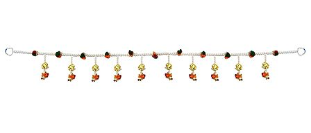 Bead Door Toran with Elephants - Decorative Door Hanging
