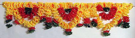 Cloth Flower Door Toran (Decorative Door Hanging)