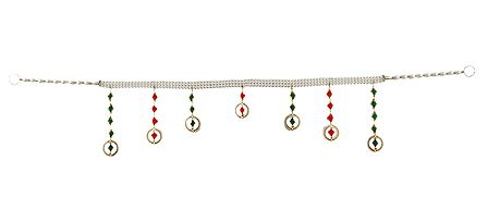 White Bead Door Toran - Decorative Door Hanging