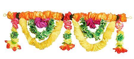 Cloth Flower Door Toran