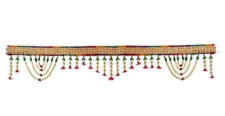 Cloth Door Toran with Beads - Decorative Door Hanging
