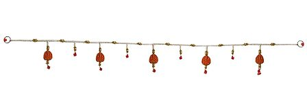 Door Toran with Ganesha and  Beads - Decorative Door Hanging