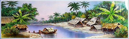 Village Scene of West Bengal