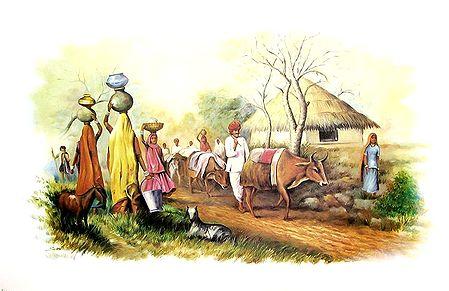 Scene of Indian Village