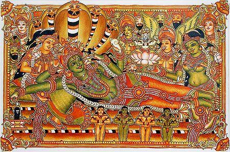 Vishnu in Anantashayan
