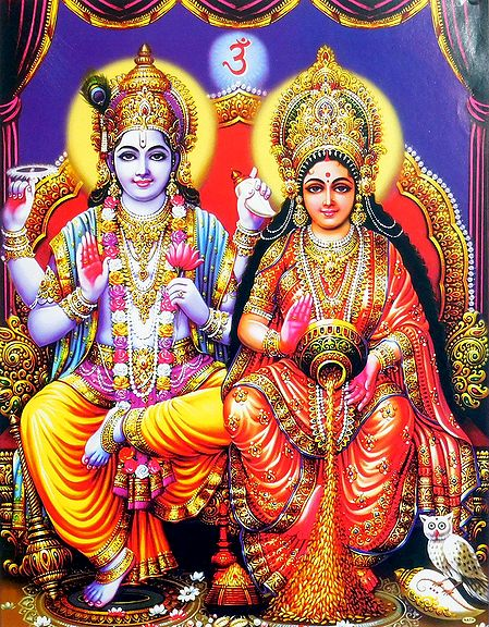 Vishnu with Lakshmi