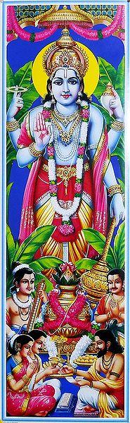 People Performing Puja for Lord Vishnu