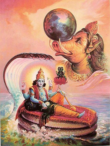 Varaha Avatar - Incarnation of Vishnu
