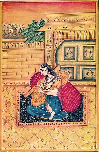 Ragini Gujari Manifesting as Khandita Nayika (Also Known as Ragini Deepika)