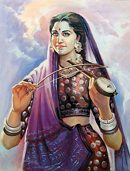 Lady Playing Ektara