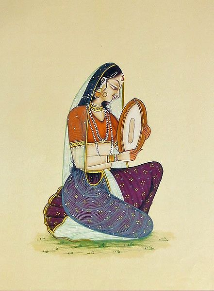 Lady Playing Dafli