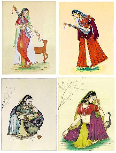 Ragini - Set of 4 Posters