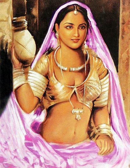 Rajasthani Lady Holding Lantern