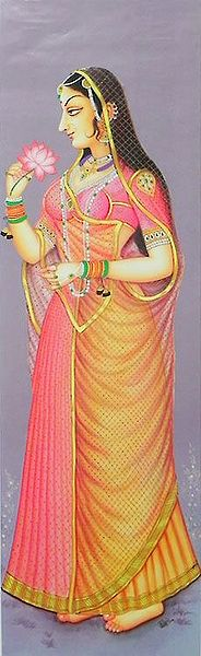 Rajput Princess Holding Lotus
