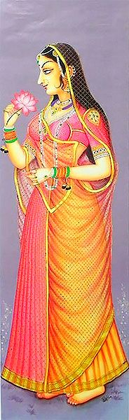 Rajput Princess Holding Lotus