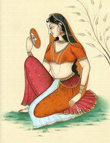 Lady Doing Shringar