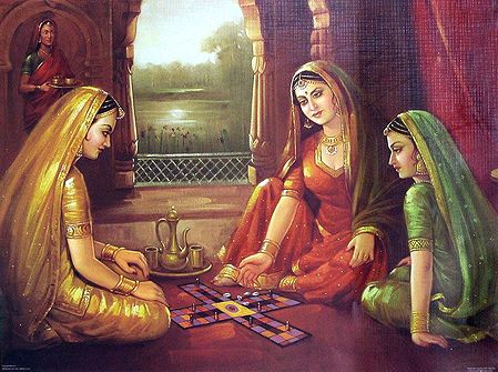 Royal Ladies Playing the Game of Dice