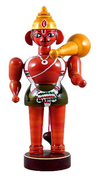 Lord Hanuman - Chennapatna Doll