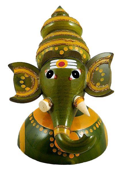 Half Bust Ganesha - Chennapatna Doll