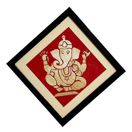 Ganesha - Straw Craft Wall Hanging