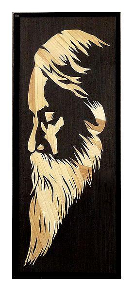 Rabindranath Tagore - Wood Wall Hanging