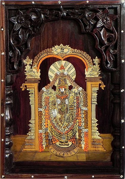 Balaji - Inlaid Wood Wall Hanging