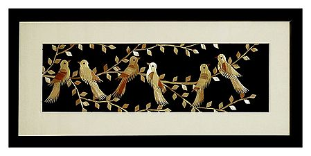 Birds Sitting on a Tree - Wood Wall Hanging