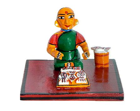 Fish Seller - Kondapalli Doll