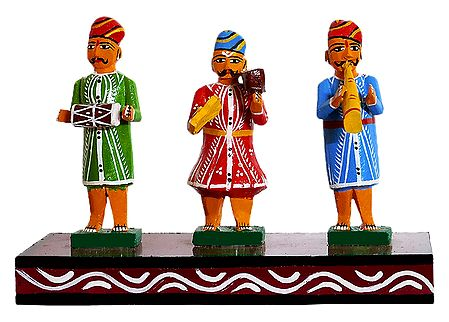 3 Musicians - Kondapalli Doll