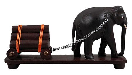 Elephant Carrying Logs
