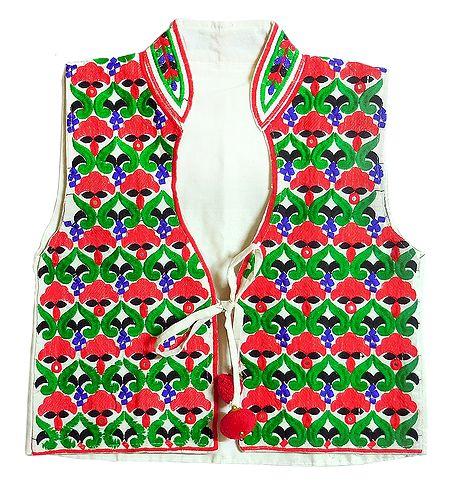 Katchi Embroidery on Ladies Koti Jacket