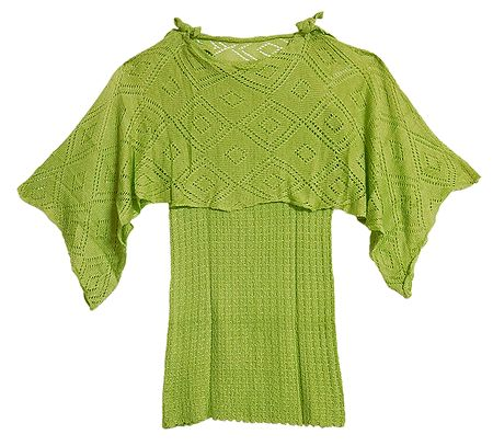 Olive Green Designer Ladies Woolen Sweater
