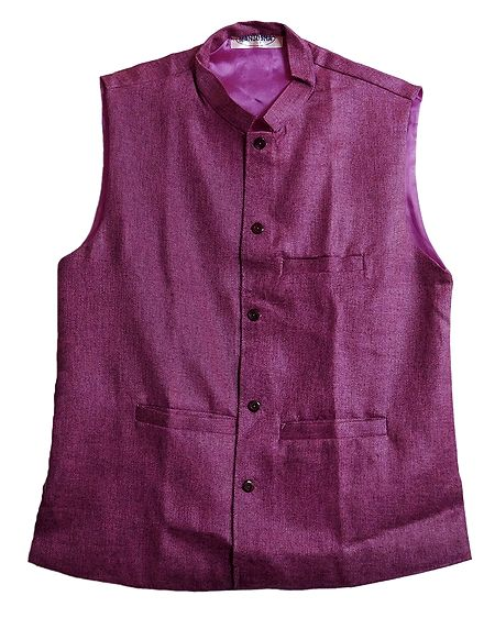 Mens Dark Magenta Sleeveless Jacket
