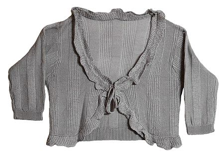 Fashionable Frilled Woolen Shrug
