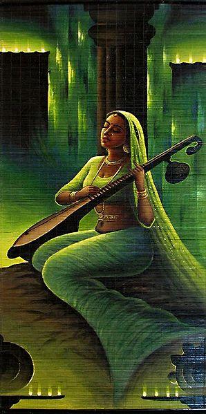 Meerabai - Krishna Devotee (Wall Hanging)