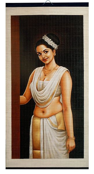 A Beautiful Maiden from Kerala - Wall Hanging