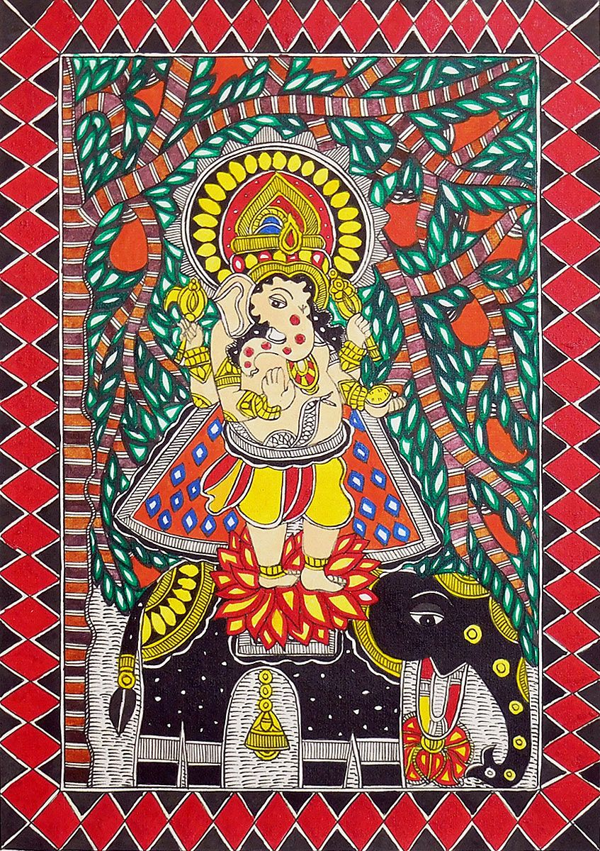 Buy madhubani ganesha painting for Buy mural paintings