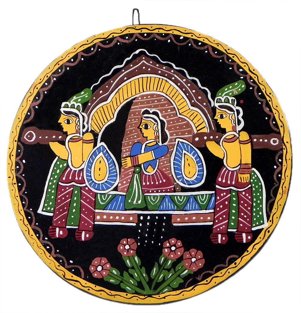 Princess On Palki Tikuli Painting