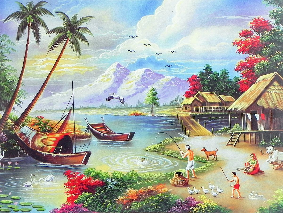 Contentment for Beautiful painting images