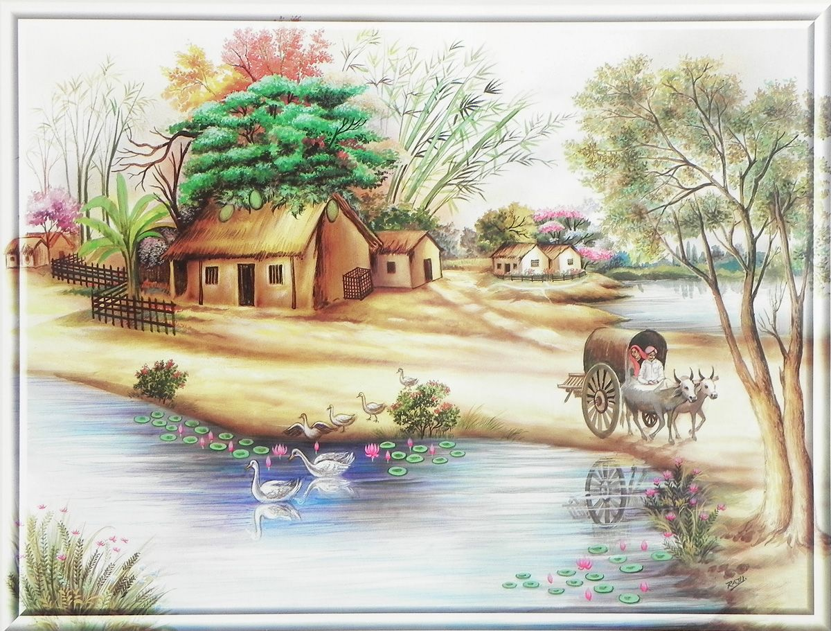 Village poster - Art village wallpaper ...