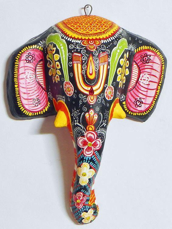 paper mache elephant mask - photo #16