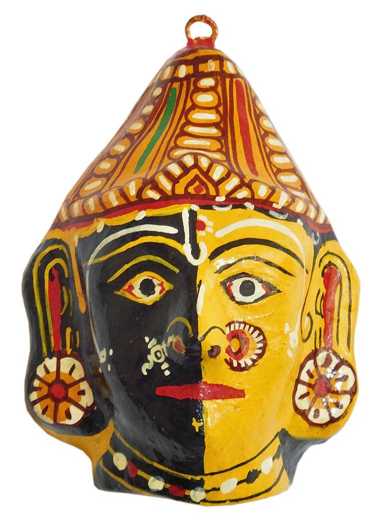 Papier Mache Combined Mask of Radha and Krishna