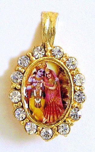 White stone studded radha krishna pendant white stone studded radha krishna pendant hover to zoom aloadofball Gallery
