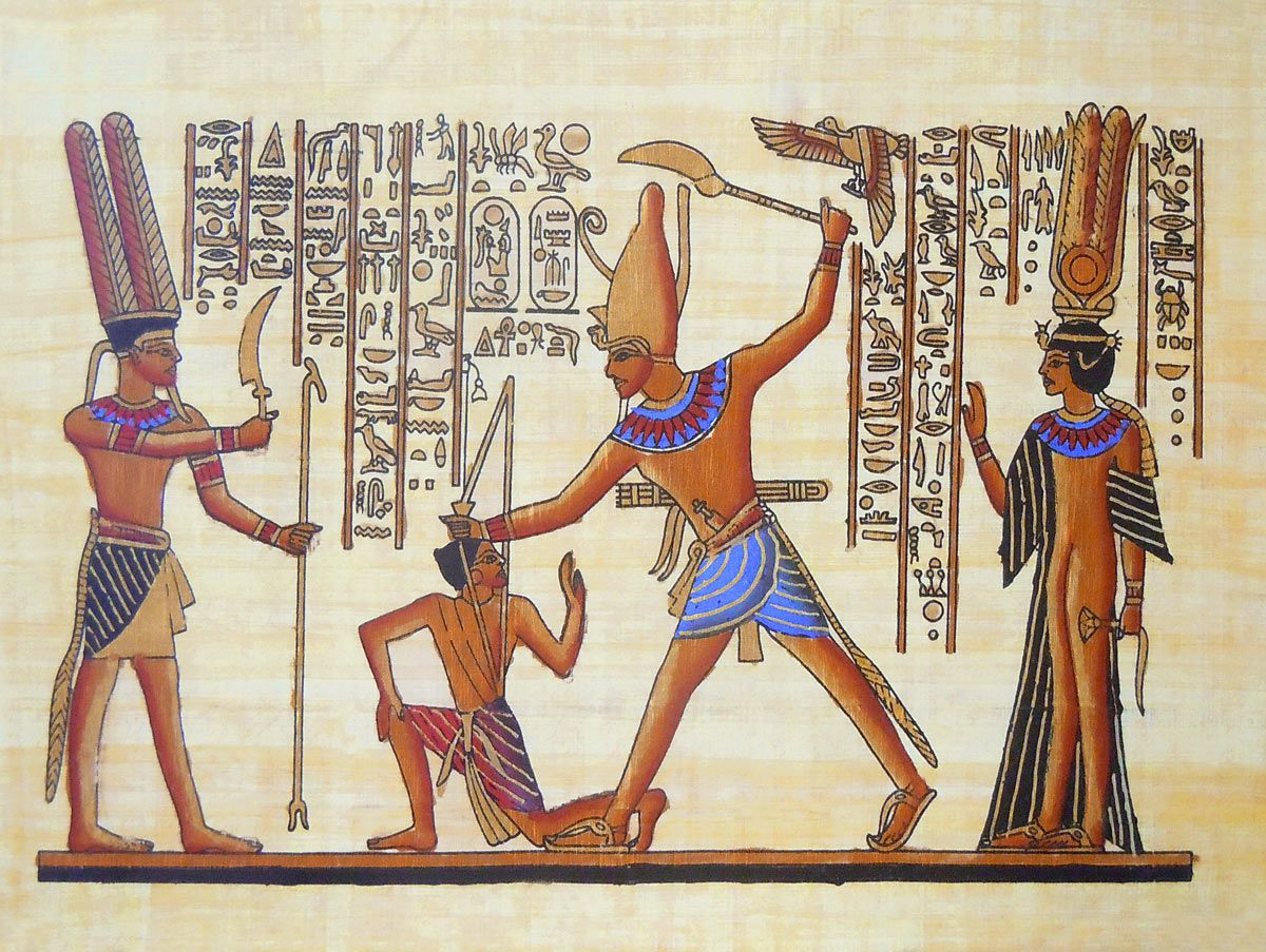 Depiction of punishment poster 7 5 x 10 in unframed for Egyptian mural paintings