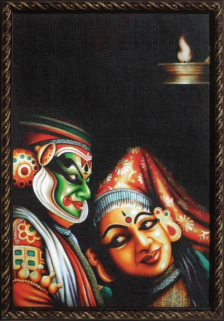 Kathakali Dancers - Wall Hanging