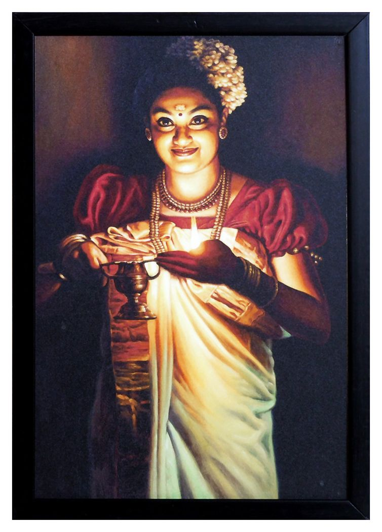 Superb Lady With Lamp   Wall Hanging. Hover To Zoom