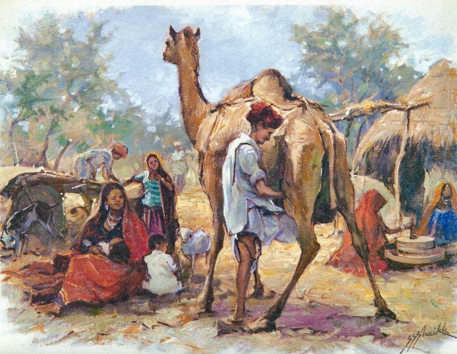 Rajasthani Village Folk Hover To Zoom
