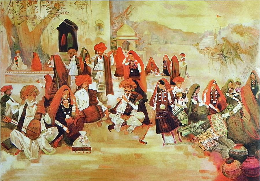 Hustle Bustle Of Rajasthan Market