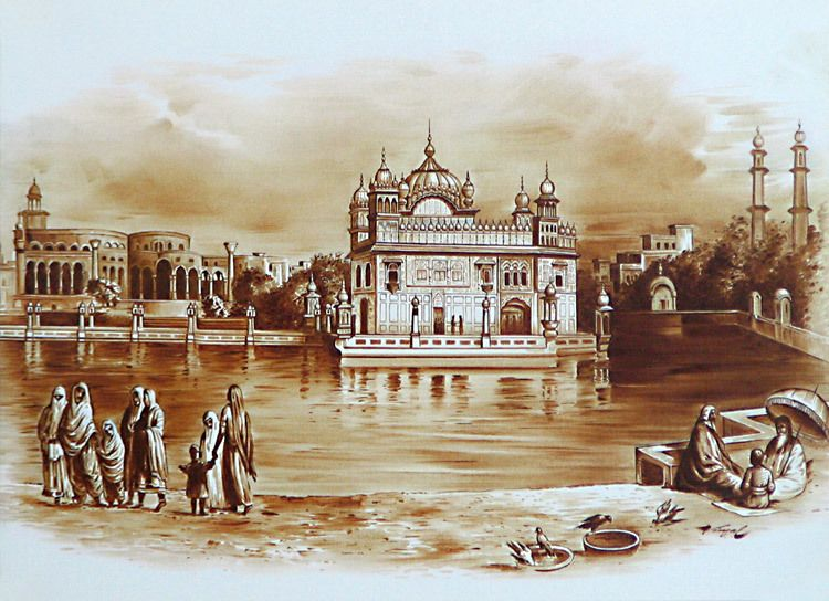 Golden Temple in Amritsar During 1833 (Currently out-of-stock)