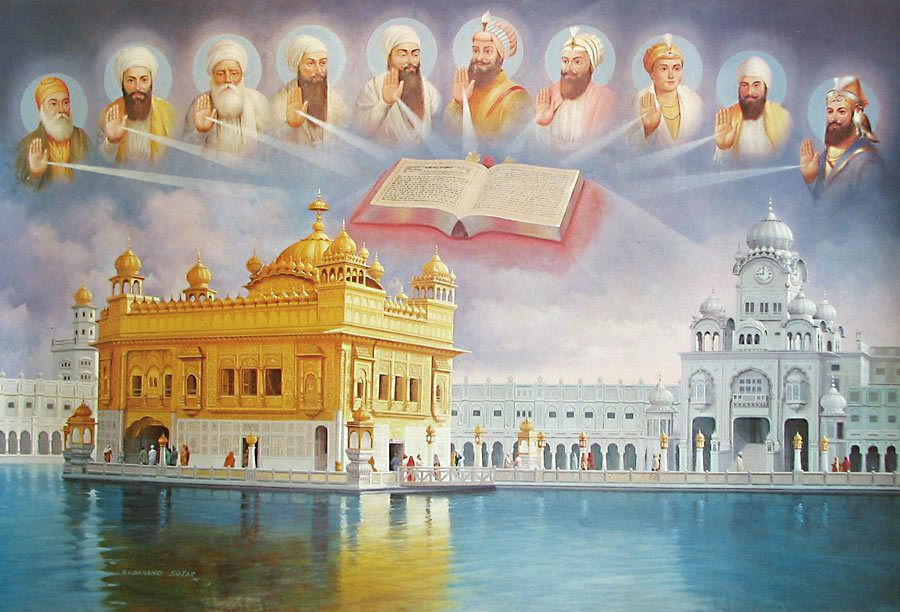 The Golden Temple Guru Granth Sahib And The Ten Sikh Gurus